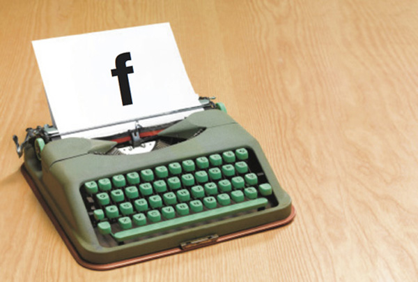 Facebook Typewriter